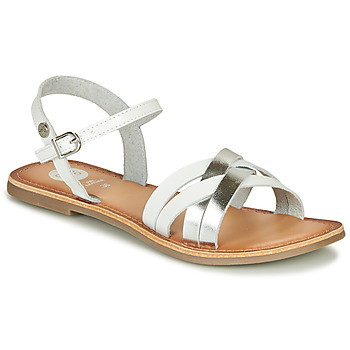 Shoes Girl Sandals Gioseppo GISTEL White / Silver