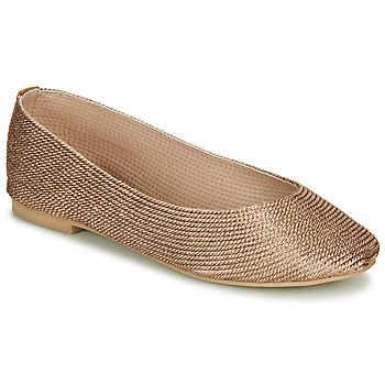 Shoes Women Ballerinas André PAPAYA Gold