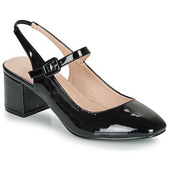Shoes Women Ballerinas André JONNA Black / Varnish