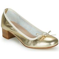 Shoes Women Ballerinas André POEME Gold