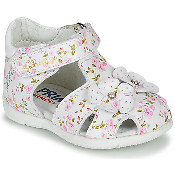 Shoes Girl Sandals Primigi  White / Pink