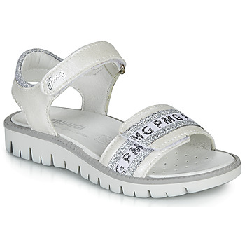 Shoes Girl Sandals Primigi 5386700 White / Silver