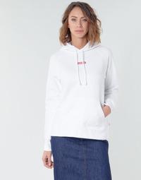 material Women sweaters Levi's RAPHIC SPORT HOODIE BABY TAB HOODIE White