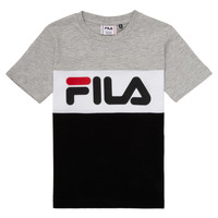 material Children short-sleeved t-shirts Fila FINA Grey / Black