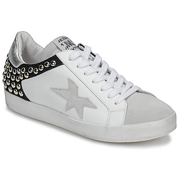 Shoes Women Low top trainers Meline GELLABELLE White / Black
