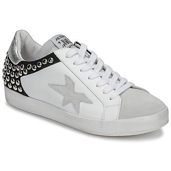 Shoes Women Low top trainers Meline GELLABELLE White / Black