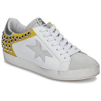 Shoes Women Low top trainers Meline GELLABELLE White / Mustard
