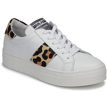 Shoes Women Low top trainers Meline GETSET White / Leopard