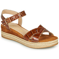 Shoes Women Sandals Unisa GRANADA Camel