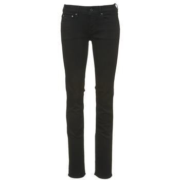material Women straight jeans G-Star Raw ATTACC MID STRAIGHT Black