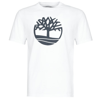 material Men short-sleeved t-shirts Timberland SS KENNEBEC RIVER BRAND TREE TEE White
