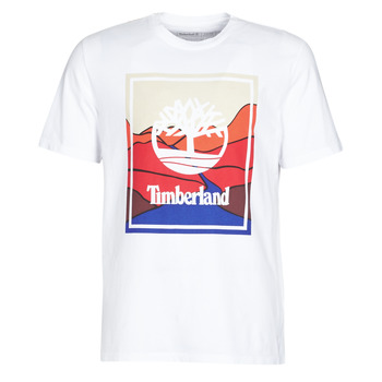 material Men short-sleeved t-shirts Timberland SS KENNEBEC RIVER HORIZON GRAPHIC TEE White