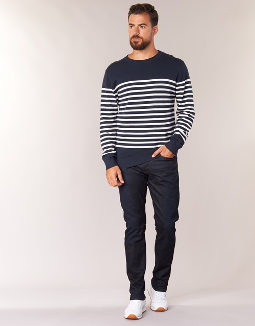 material Men straight jeans G-Star Raw 3301 TAPERED Visor / Stretch / Denim / Dk / Aged
