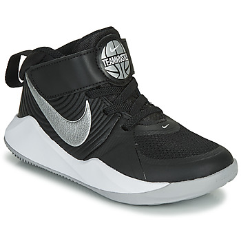 Shoes Boy Basketball shoes Nike TEAM HUSTLE D 9 PS Black / Silver