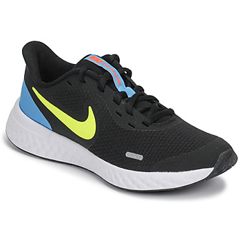 Shoes Boy Multisport shoes Nike REVOLUTION 5 GS Black / Yellow / Blue