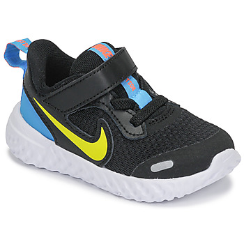 Shoes Boy Multisport shoes Nike REVOLUTION 5 TD Black / Yellow / Blue