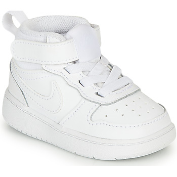 Shoes Children Low top trainers Nike COURT BOROUGH MID 2 TD White