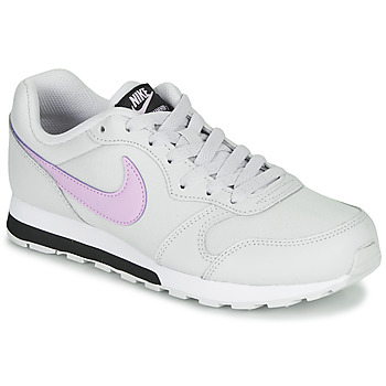 Shoes Girl Low top trainers Nike MD RUNNER GS White / Pink