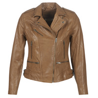 material Women Leather jackets / Imitation leather Naf Naf CHAO Cognac