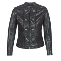 material Women Leather jackets / Imitation leather Naf Naf CMILI Black