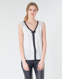 material Women Blouses Naf Naf CORAZON White