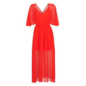 material Women Long Dresses Naf Naf CAMILLE R1 Red