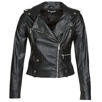material Women Leather jackets / Imitation leather Morgan GAMMA Black
