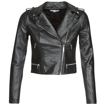 material Women Leather jackets / Imitation leather Morgan GCURO Black