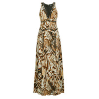 material Women Long Dresses Marciano SANDSCAPE MAXI DRESS Beige