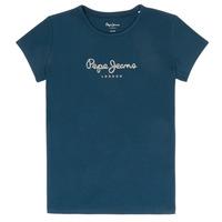 material Girl short-sleeved t-shirts Pepe jeans HANA GLITTER Marine
