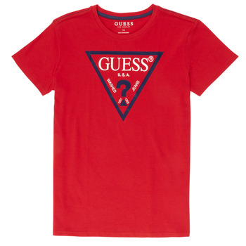 material Boy short-sleeved t-shirts Guess  Red