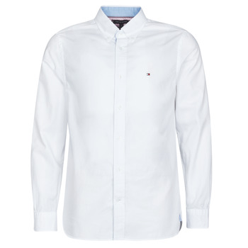 material Men long-sleeved shirts Tommy Hilfiger HYPER CLASSIC TWILL SHIRT Ecru