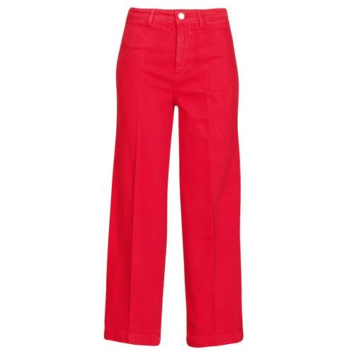material Women bootcut jeans Tommy Hilfiger BELL BOTTOM HW CCLR Red
