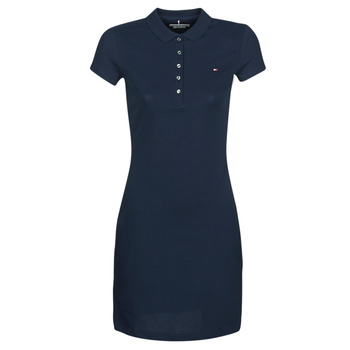 material Women Short Dresses Tommy Hilfiger HERITAGE SLIM POLO DRS Marine
