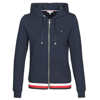 material Women sweaters Tommy Hilfiger HERITAGE ZIP THROUGH HOODIE Marine