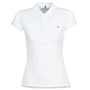 material Women short-sleeved polo shirts Tommy Hilfiger HERITAGE SS SLIM POLO Blc
