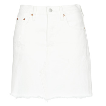 material Women Skirts Levi's HR DECON ICONIC BF SKIRT Pearly / White