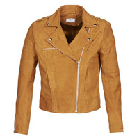 material Women Leather jackets / Imitation leather Betty London MARILINE Cognac