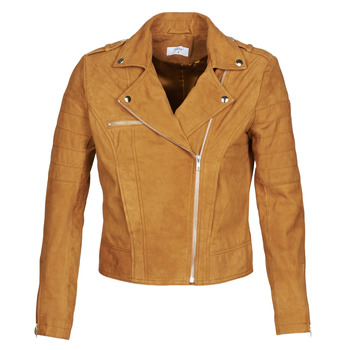 material Women Leather jackets / Imitation leather Betty London MOSTILI Cognac