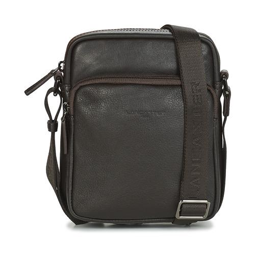 Bags Men Pouches / Clutches LANCASTER SOFT VINTAGE HOMME 10 Brown