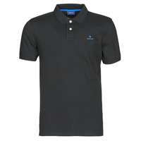 material Men short-sleeved polo shirts Gant GANT CONTRAST COLLAR PIQUE POLO Black / Blue
