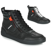Shoes Men High top trainers Diesel S-DVELOWS Black