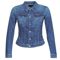 material Women Denim jackets G-Star Raw 3301 SLIM JKT WMN Blue