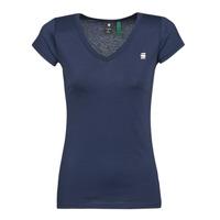 material Women short-sleeved t-shirts G-Star Raw EYBEN SLIM V T WMN SS Blue