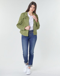 material Women straight jeans G-Star Raw MIDGE MID STRAIGHT WMN Kaki