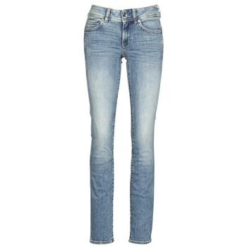 material Women straight jeans G-Star Raw Midge Mid Straight Wmn Lt / Vintage / Aged / Destroy