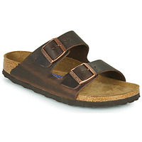 Shoes Women Mules Birkenstock ARIZONA SFB LEATHER Brown