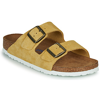 Shoes Women Mules Birkenstock ARIZONA SFB LEATHER Mustard