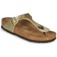 Shoes Women Flip flops Birkenstock GIZEH Gold / Gold