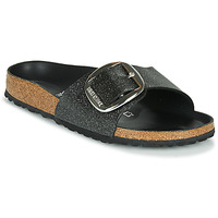 Shoes Women Mules Birkenstock MADRID BIG BUCKLE Black / Glitter